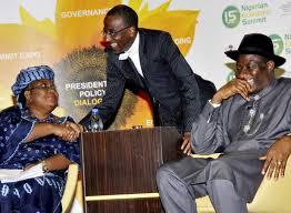 Better Days... (L-R): Ngozi Okonjo-Iweala, Sanusi Lamido Sanusi, Goodluck Jonathan
